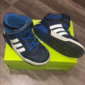 Adidas neo toddler high top blue sneakers size 8